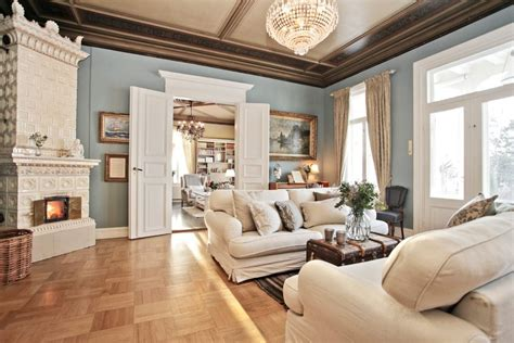 rust colored paint living room traditional with beige