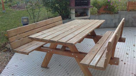 table douglas 2m avec dossier 2