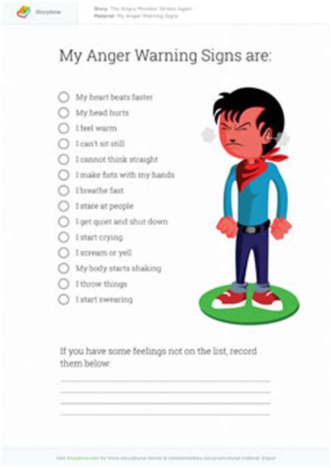 anger management for preschoolers worksheets storybow 766