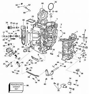 Johnson Cylinder And Crankcase Parts For 2000 115hp