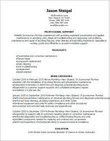 plumbing assistant resume exles professional journeymen plumber resume templates to showcase your talent myperfectresume