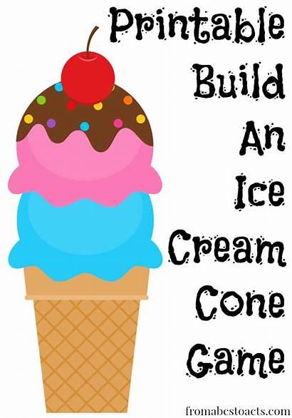Ice Cream Cone Printable Build Games Craft