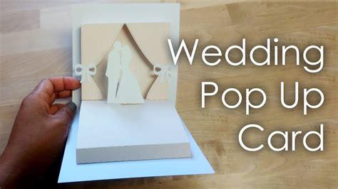 tutorial template diy wedding project pop  card