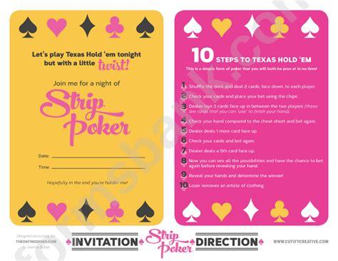 strip poker texas holdem rules sheet printable