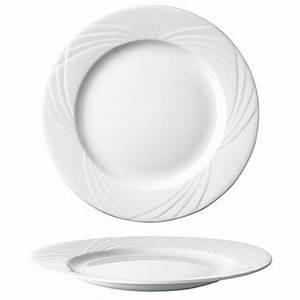 Assiette Plate Blanche : assiette plate ronde blanche 27cm en porcelaine sarreguemines ~ Teatrodelosmanantiales.com Idées de Décoration