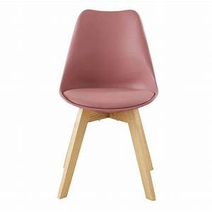 Sedia In Stile Scandinavo Rosa E Rovere Ice