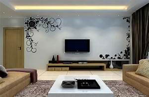D living room interior tv wall picture house free