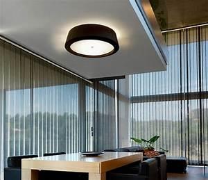 Modern fabric shade flush ceiling fitting