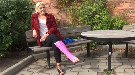 Cammie Slc It Is Not So Easy To Crutch With A Cast O