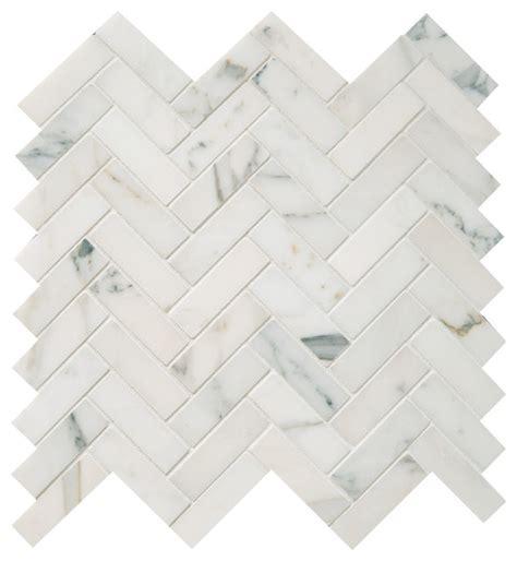 herringbone mosaic polished calacatta herringbone mosaic tile traditional wall and floor tile by earth