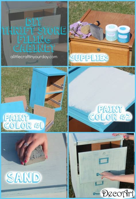 Diy Thrift Store Filing Cabinet  Teen Room Decor A