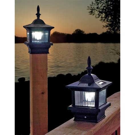 solar deck post lights choices of solar deck lights with stunning design