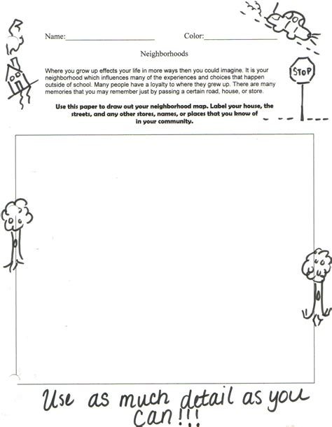 My Neighborhood Worksheet The Best Worksheets Image Collection  Download And Share Worksheets