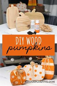 Diy, Craft, Kit, How, To, Paint, Your, Wood, Pumpkin, Cut, Outs, To, Complete, Your, Rustic, Fall, Decor
