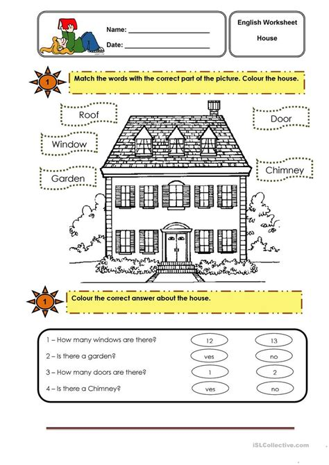 Parts Of The House Worksheet  Free Esl Printable Worksheets Made By Teachers