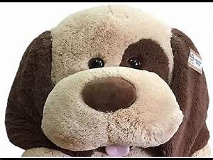 Jumbo Plush Dog HugFun 70 Inch Stuffed Animal Toys Videos ...