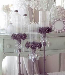 dollar tree vases hand made flowers stair spindle from With kitchen cabinets lowes with crystal flower candle holder