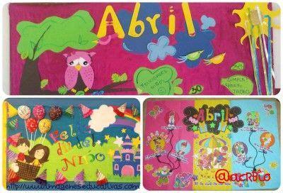 ideas el peri 243 dico mural del mes de abril collage im 225 genes educativas pinterest
