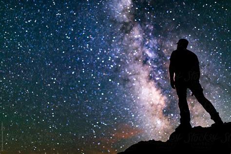 Amazing Milky Way Galaxy Night Sky Stars Self Portrait