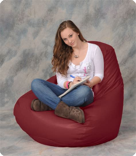 large bean bag chair in maroon bean bag city