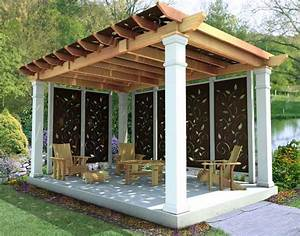 Rough Cut Cedar Oasis Free Standing Pergolas Pergolas by Material GazeboCreations