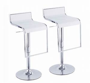 Tabouret De Bar En Solde : tabouret de bar blanc seville lot de with chaise de bar solde ~ Teatrodelosmanantiales.com Idées de Décoration