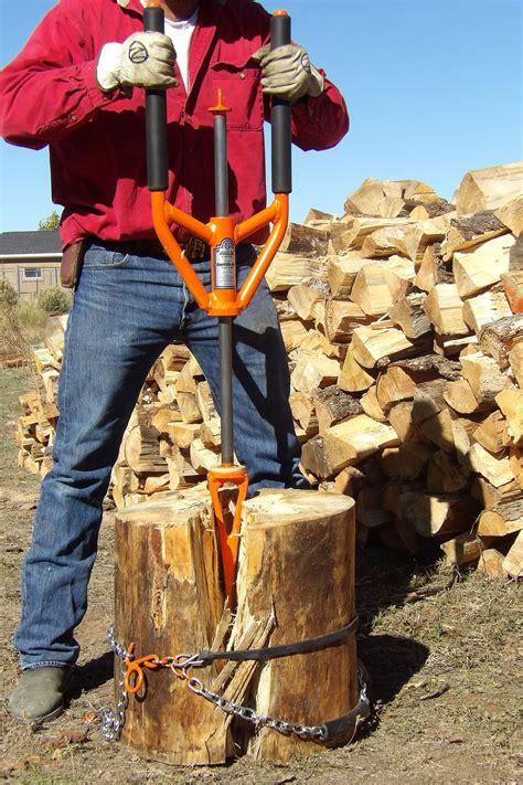 good   splitz  split knotty log firewood wood