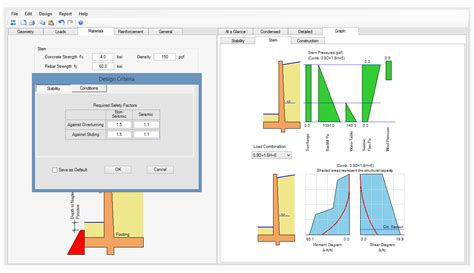 wall design software asdip retain structural engineering software