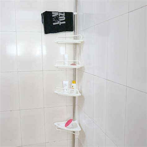 shower corner shelf 4 tier telescopic adjustable corner shower shelf bathroom