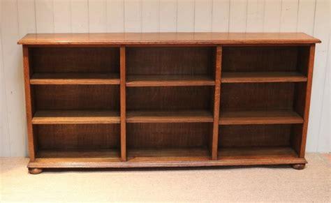 Low Wide Bookshelf by Low Wide Open Oak Bookcase 457165 Sellingantiques Co Uk