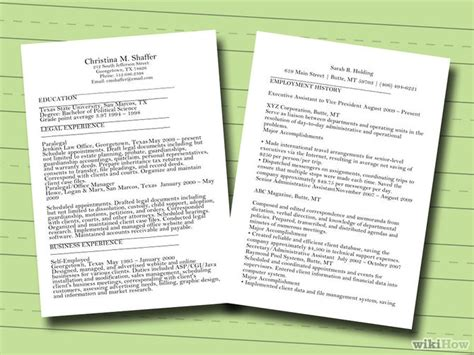 7 Ways To Make A Resume  Wikihow. Immigration Consultant Resume. Business To Business Sales Resume Sample. Marketing Objectives Examples Resume. Words To Use On A Resume. Resume With Executive Summary. Good Resume Verbs. National American Miss Resume. Job Resume Websites