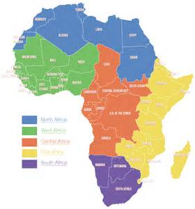 South Africa Region Map