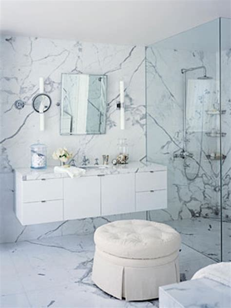 Bedroom & Bathroom: Comfy White Bathrooms For Contemporary