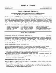 B2b Marketing Manager Resume Example