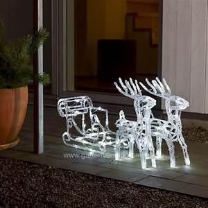 Weihnachtsbeleuchtung Außen Balkon : led weihnachtsbeleuchtung rentiere mit schlitten ~ Michelbontemps.com Haus und Dekorationen