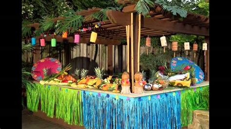 colorful hawaiian party decorations youtube