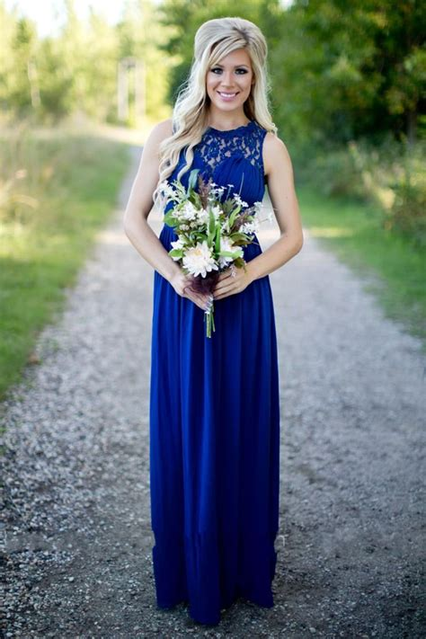 country bridesmaid dresses  long  wedding royal