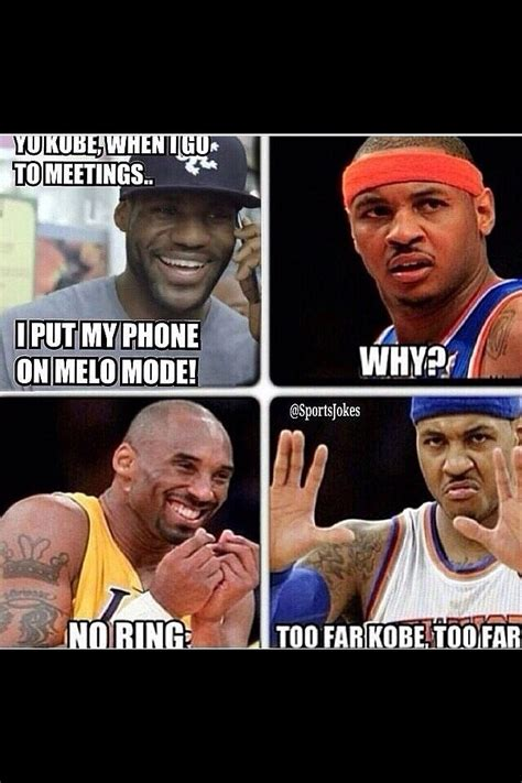 Carmelo Anthony Meme Lebron Bryant Carmelo Anthony No Ring Meme R