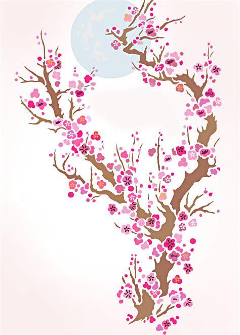 plum blossom  moon stencil henny donovan motif