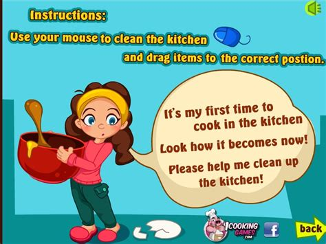 Kitchen Clean Up Game  Games For Girls Box