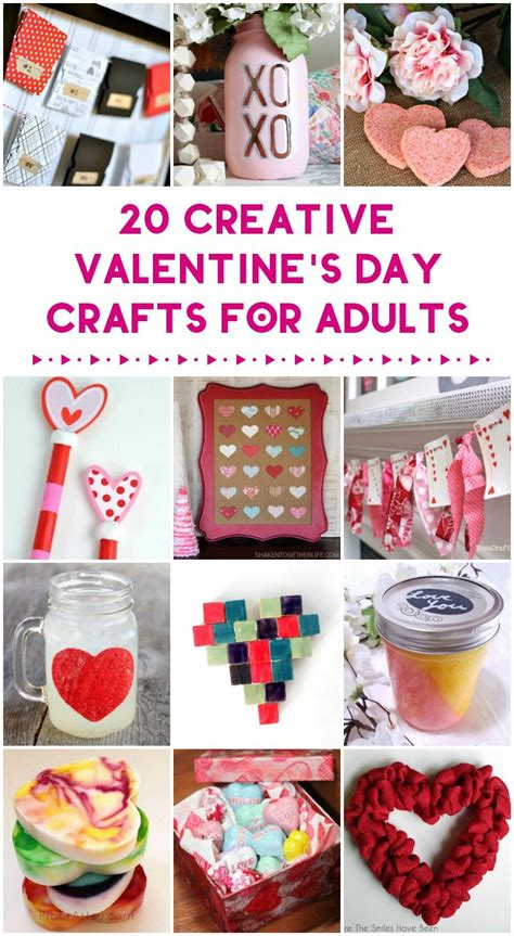 day crafts for adults 20 valentine s day crafts handmade gifts for you to make crafts for grownups pretty