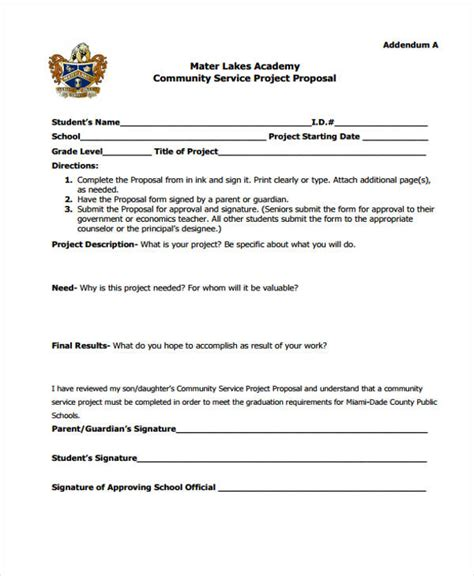 10 Community Proposal Templates  Free Sample, Example