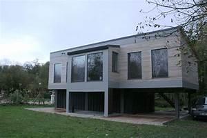 maison sur pilotis en bois agence ea paris With maison contemporaine sur pilotis