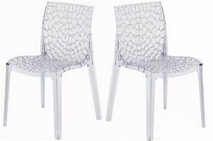 But Chaise Transparente : lot de 2 chaises transparentes filet design sur sofactory ~ Teatrodelosmanantiales.com Idées de Décoration