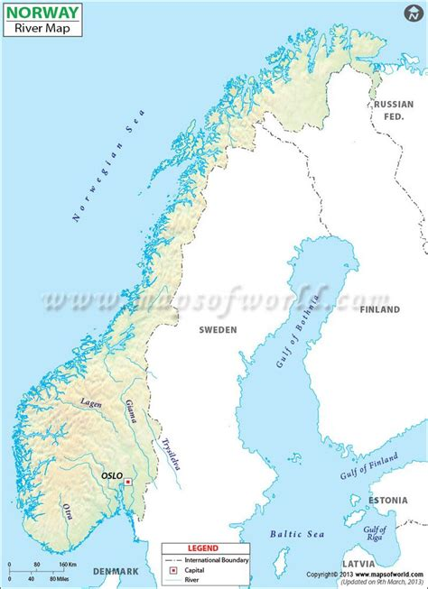 map  norway rivers ideas pinterest