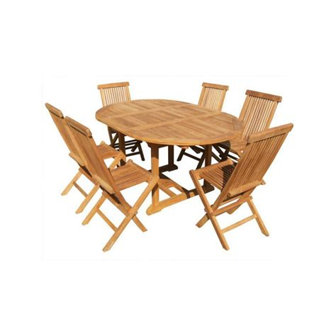 chaises salon de jardin salon de jardin table ronde en teck 6 chaises teck en