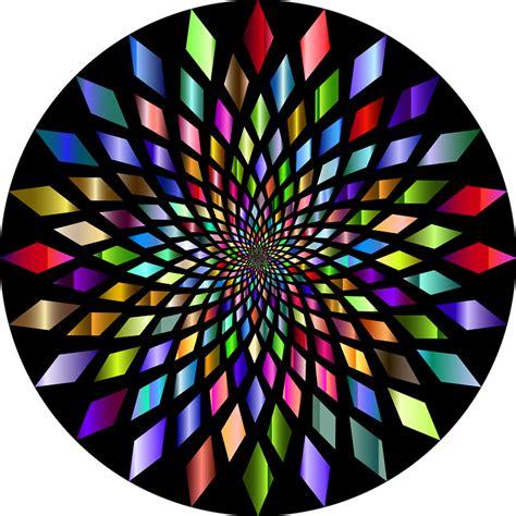 vector graphic abstract geometric art vortex