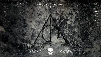 Potter Harry Reliques Hallows Deathly Symbols Wallpapers
