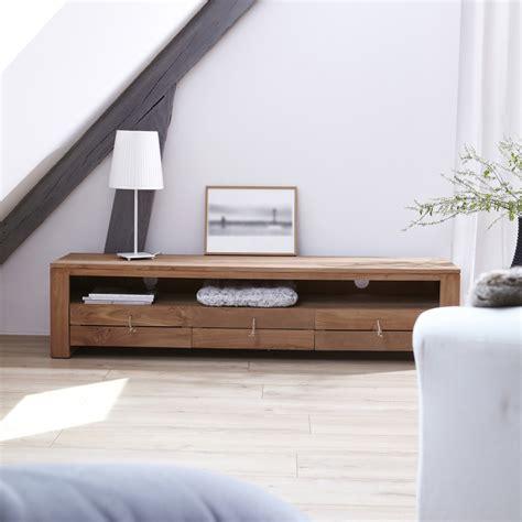 chambre teck meuble tv bois massif meubles télé chene teck acajou