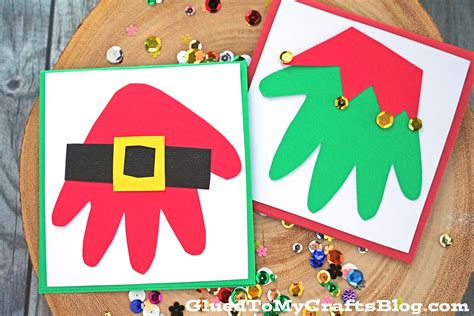 Everyone loves handmade christmas cards and these ideas are mantel worthy! Super Easy Handprint Santa & Elf Christmas Cards